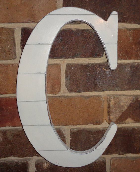 18 shiplap large wooden letter c home decor for by woodenstitch