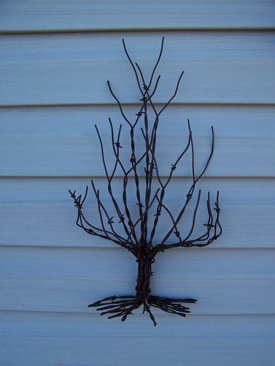 Barb Wire Christmas Tree