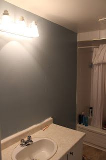 Kids Bathroom Painted! BM Colorado Gray