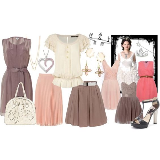 Princess style- pleated dress, skirts, created by even-syao on Polyvore