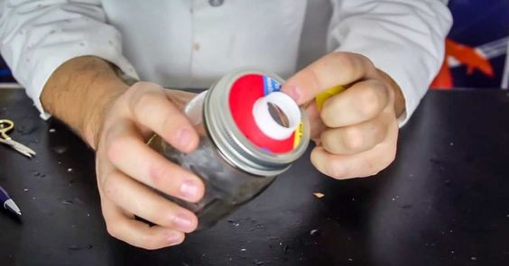 He Put A Bottle Cap On A Mason Jar. When I Saw Why, I Did It Immediately. Awesome!