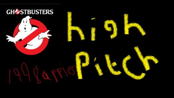 Ghostbusters theme song high pitch