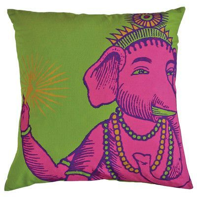 Koko Company Bazaar Throw Pillow Color: Lime