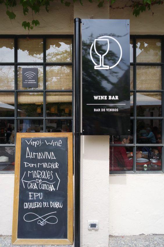 Foto do Wine Bar da vinícola Concha y Toro em Santiago do Chile