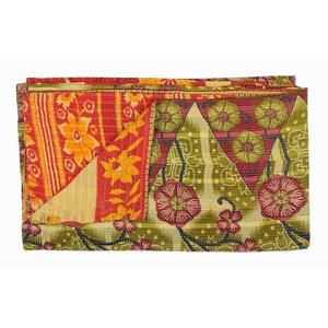 Hand-stitched two-sided Sari Quilt from India. Something beautiful used up and made into something beautiful once again...and the touch!  from Fab.com