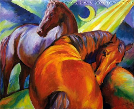 Franz Marc was fascinated with horses because they had a characteristic that he did not see in humans