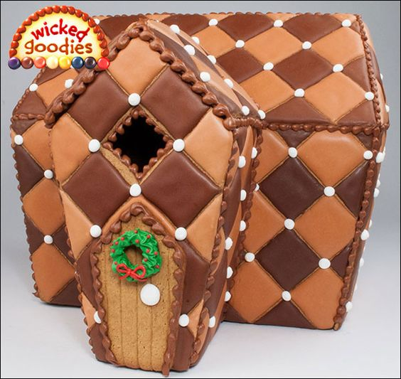 3 – Chocolate Quilted Cookie House