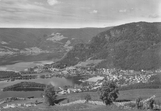 OPPLAND: Fagernes - Utsikt mot stedet Utg Normann