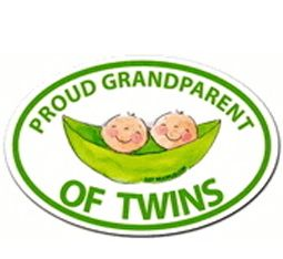 Proud Grandparent of Twins car magnet