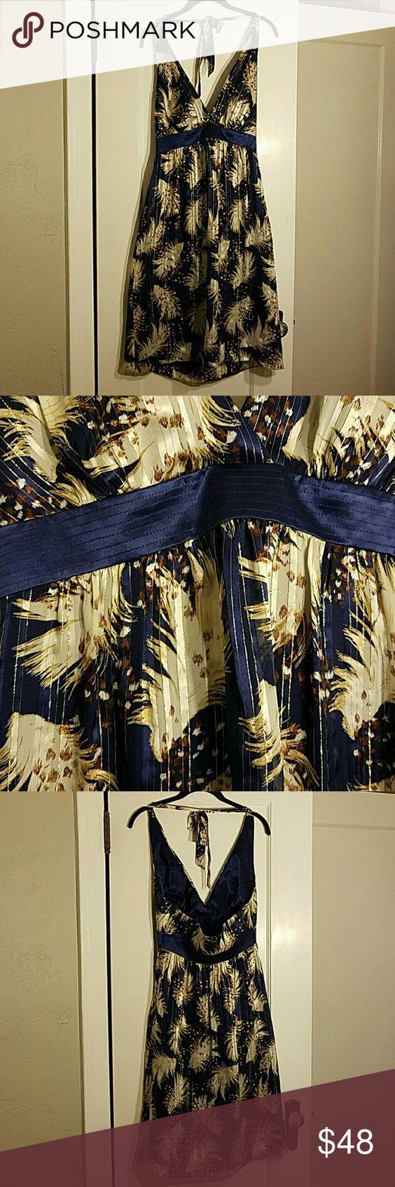 Selling this *MOVING SALE* NWT Shelli Segal Silk Halter Dress on Poshmark! My username is: katerenee18. #shopmycloset #poshmark #fashion #shopping #style #forsale #Laundry by Shelli Segal #Dresses & Skirts
