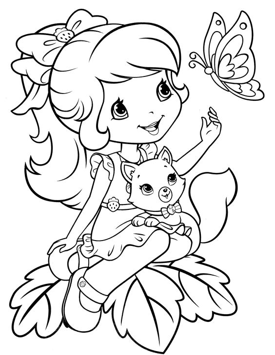 strawberry shortcake coloring page: