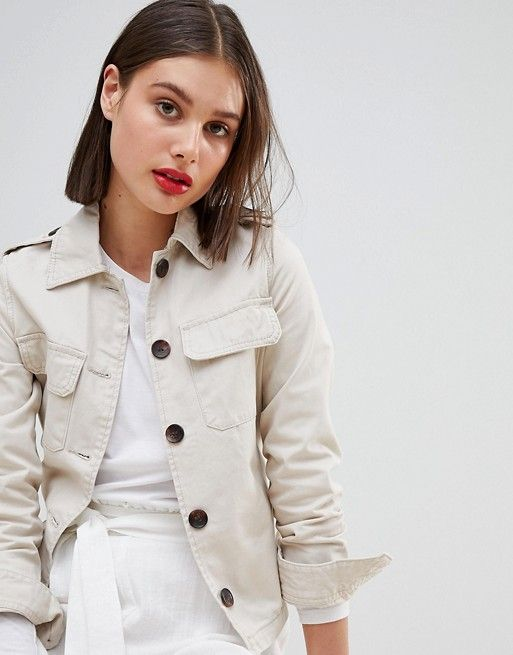 Stradivarius | Stradivarius Utility Button Front Jacket
