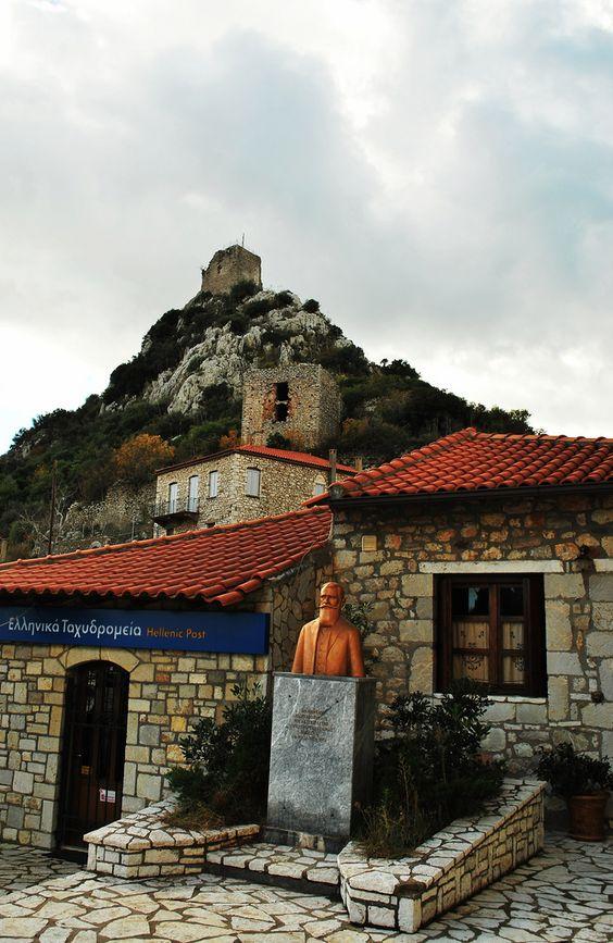 Karitaina is a village n a community in Arcadia, Peloponnese region_ Greece