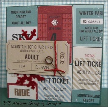 Wintercard with tags.