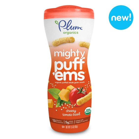 Check out Plum Organics Mighty Puff'ems™ – Cheesy Tomato Basil