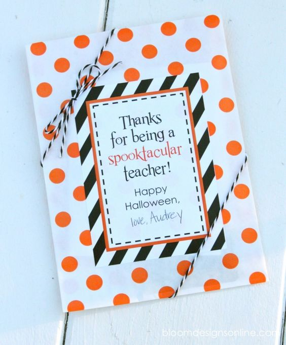 Spooktacular Teacher Tags- Free Download
