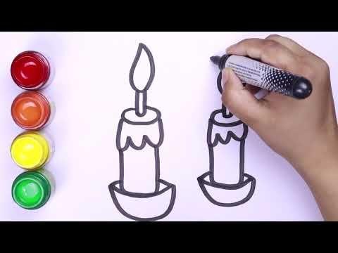 Cara Menggambar Cahaya Lilin Mewarnai Dan Menggambar Menggambar Lang Cara Menggambar Lilin Warna