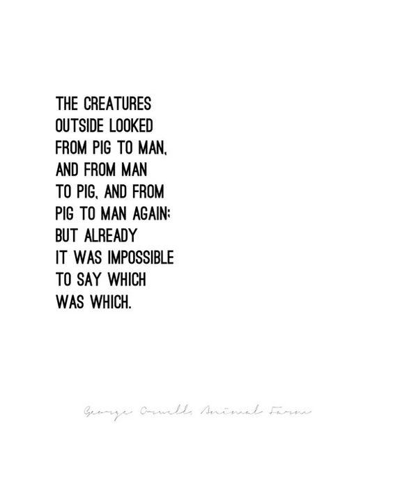 ANIMAL FARM George Orwell // quote poster // door LuminousParticular