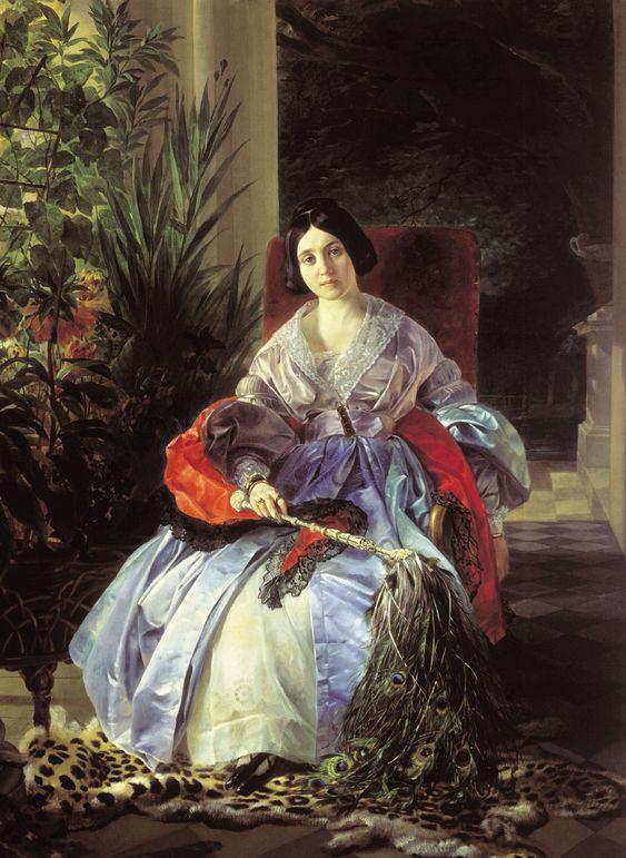 Karl Pavlovich Bryullov, Portrait of the Brightest Princess Elezabeta Pavlovna Saltykova, (1841):