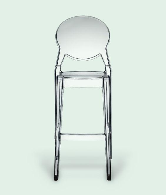 Igloo Bar Stool in Transparent by Impaczone | Italian Designer Bar ...