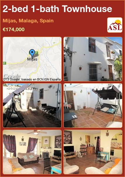 2-bed 1-bath Townhouse in Mijas, Malaga, Spain ►€174,000 #PropertyForSaleInSpain