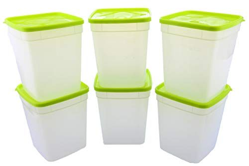 Arrow Reusable Plastic Storage Container Set 6 Pack 1 Quart 4 Cup Each Food Meal Prep Leftovers In 2020 Plastic Container Storage Plastic Storage Container Set