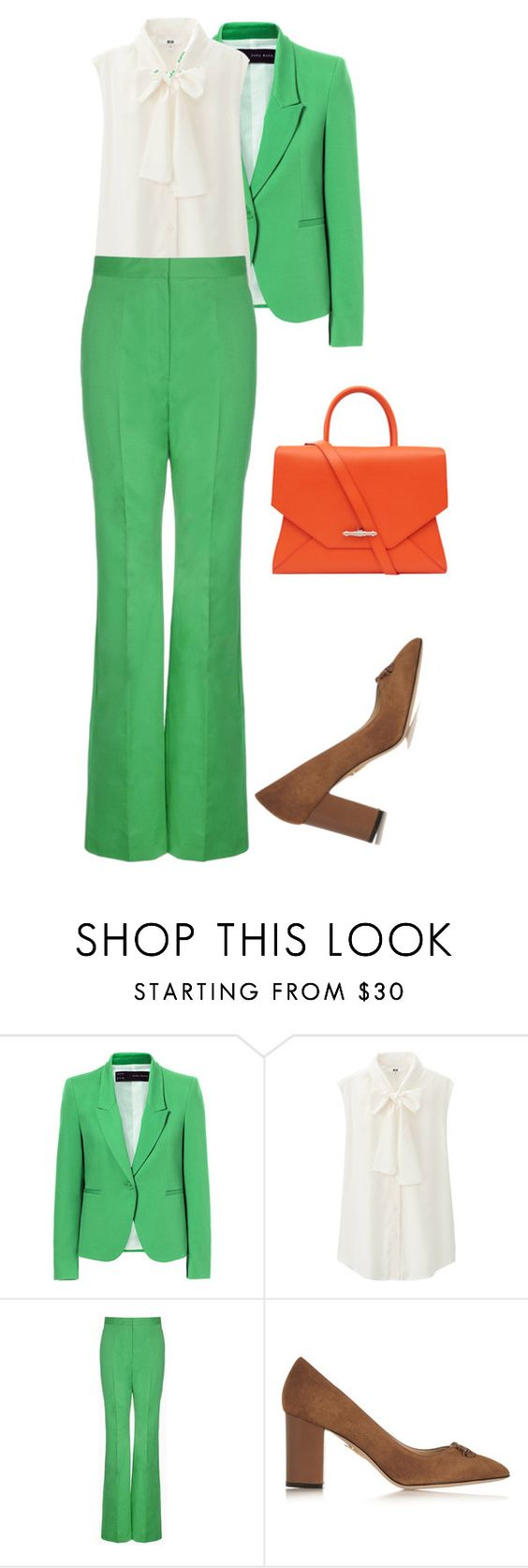 """""""#428"""" by nandamfontes ❤ liked on Polyvore featuring Zara, Uniqlo, STELLA McCARTNEY, Charlotte Olympia and Givenchy"""