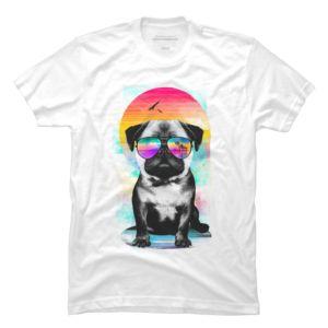Summer Pug surreal summer tee collection at DesignByHumans
