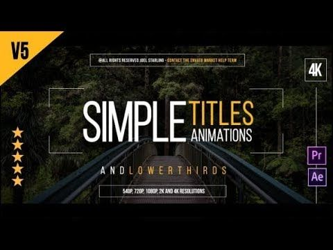After Effects Template Gold Simple Titles 4k Free Download After Effects Templates Title After Effects