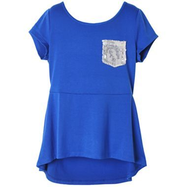 Pinky Solid Peplum Top - Girls 4-16 - jcpenney