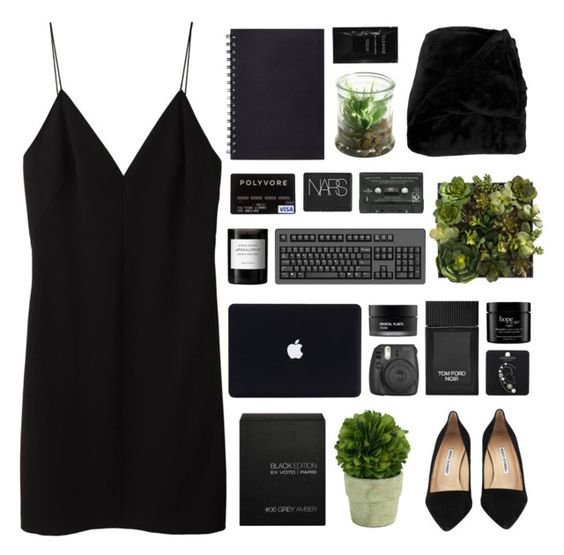 """""""i fight my own battles baby"""" by acquiescence ❤ liked on Polyvore featuring T By Alexander Wang, Manolo Blahnik, Topshop, Alöe, Cleanse by Lauren Napier, Tom Ford, Mills Floral Company, Byredo, Koh Gen Do and philosophy"""