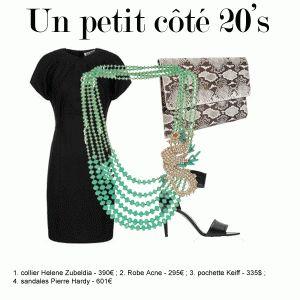 Le collier oversize avec un petit côté 20s à retrouver sur www.les-selectives.com
