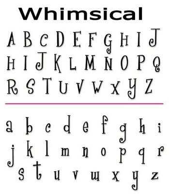 Cool Alphabet Fonts  Google Search  Craft Ideas