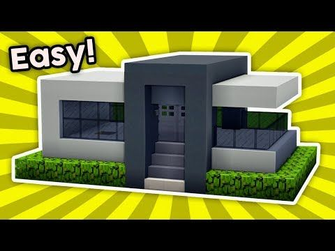 Minecraft How To Build A Easy Small Modern House 3 Pc Xboxone Ps4 Pe Xbox360 Ps3 Youtube Minecraft Modern Modern Minecraft Houses Small Modern Home