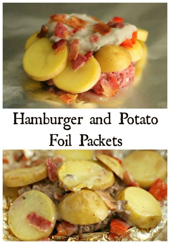 Hamburger And Potato Foil Packets