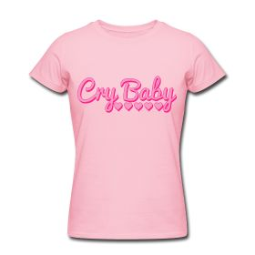 Cry Baby Slim Fit T-Shirt Women's Slim Fit T-Shirt by American Apparel Slim-fitting Soft Jersey T-Shirt, 100% cotton, Brand: American Apparel  It is recommended to order a size up if looking for a more relaxed fit. Shrinkage levels fall within 3-4% of industry standards.