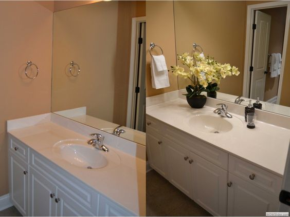 Staging a bathroom simple and cost effective ways to for Cost to stage a house