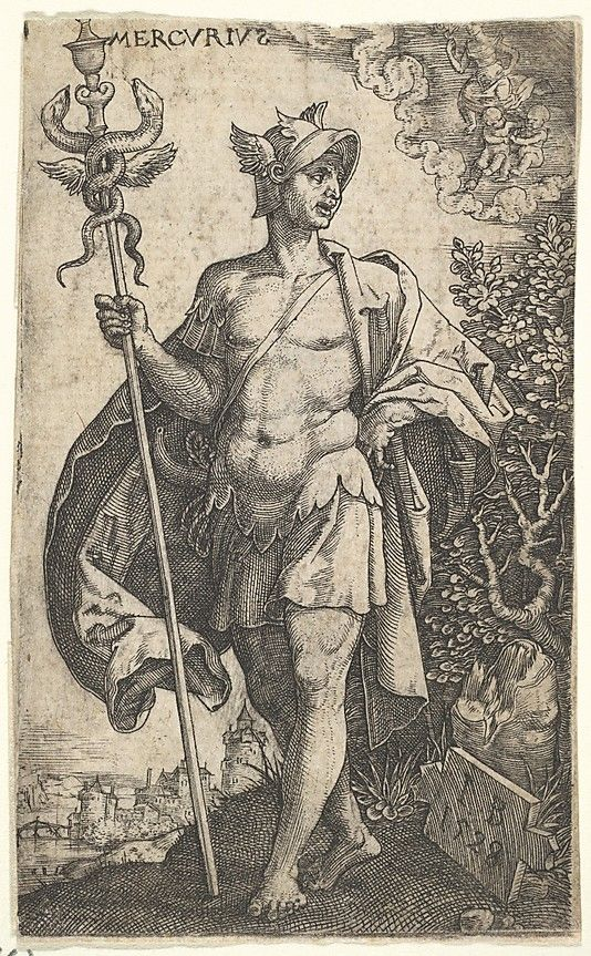 Mercury from The Gods Who Preside Over the Planets Master I.B. (German, active 1525–1530) Date: 1528