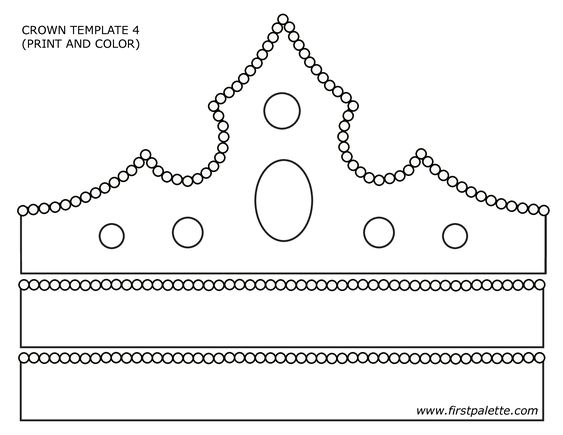 PAPER CROWN TEMPLATE - Google Search | Primary | Pinterest | Crown ...