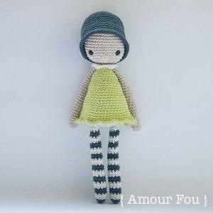 ༺༺༺♥Elles♥Heart♥Loves♥༺༺༺ ........♥Crochet Amigurumi♥........ #Amigurumi #Patterns #Crochet #Softies #Childrens #Toys #Handmade #Teddy #Doll #Tutorial #Patterns #Collectable~ ♥Beautiful Designs by Amour Fou Pattern Amélie