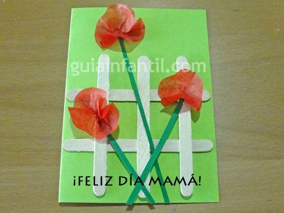 Tarjeta de amapolas manualidades del d a de la madre - Un buen regalo para mi madre ...