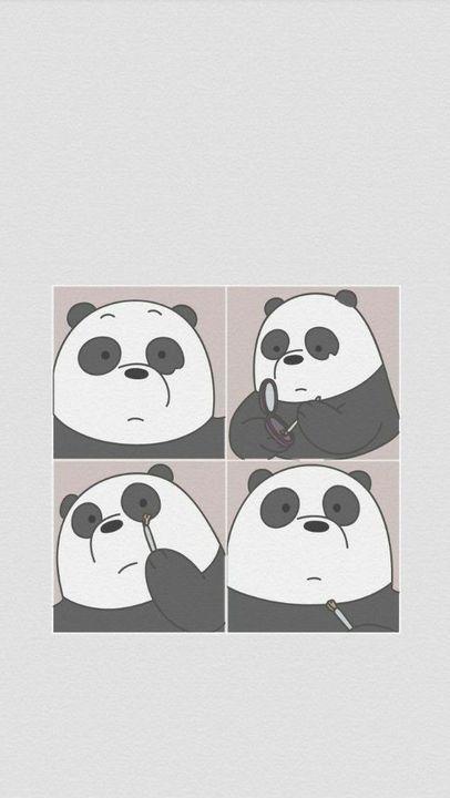 Wallpaper Feeds Lockscreen ꪶ ୭ We Bare Bears Wallpaper Ilustrasi Karakter Boneka Hewan Anak Binatang