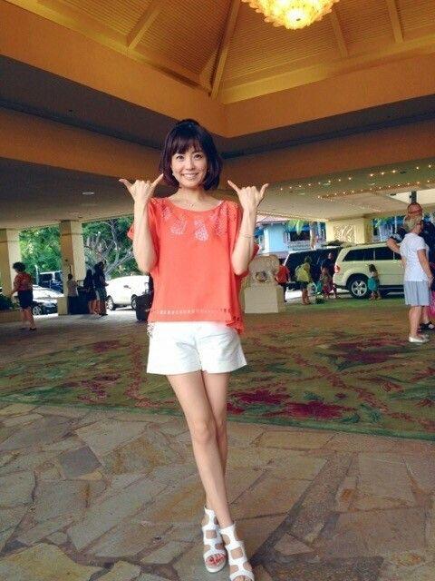 小林麻耶かわいい私服でアロハな気分