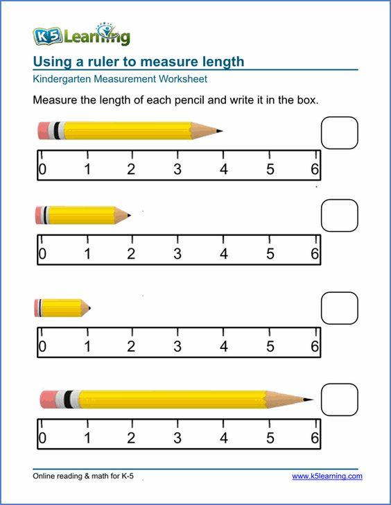 Kindergarten measurement worksheets Stuff for C – Kindergarten Measurement Worksheets Free Printables