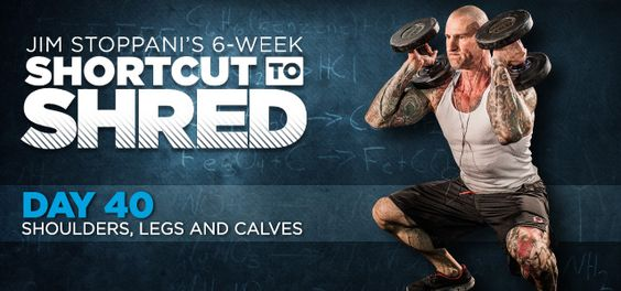 Bodybuilding.com - Jim Stoppani's Shortcut To Shred: Day 40 - Shoulders, Legs, Calves