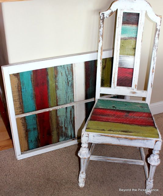 Beyond The Picket Fence Colorful Seat Chaircushions Reclaimed