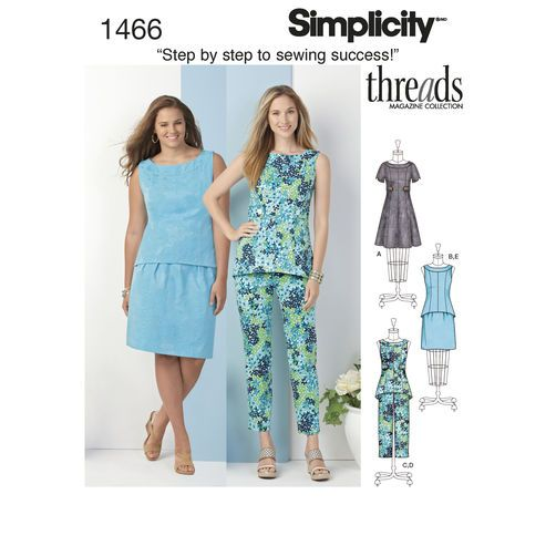 Misses' & Plus Dress, Tunic or Top, Skirt & Pants: