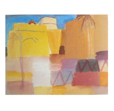 Auguste Macke, Die Tunisreise. Watercolors from a trip to Tunisia with Paul Klee. Completed months before his death, Sep 26th 1914.