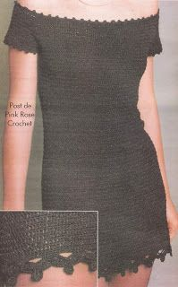 Письма и искусство Lala: вязание крючком платье