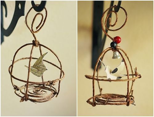 craft wire ideas birdcages wire and floral on 1701